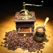 Перемалывание зернового кофе
